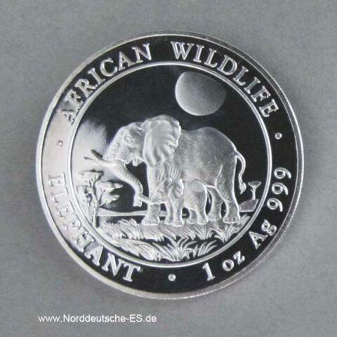 Somalia Elephant 1 oz Silber 2011 African Wildlife