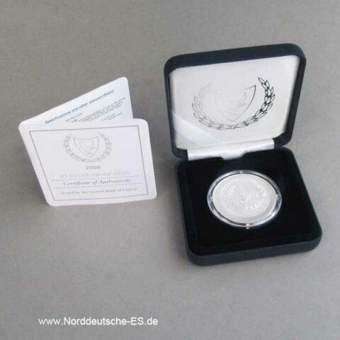 Zypern 5 Euro Silber Gedenkmünze Euro Beitritt Zypern 2008