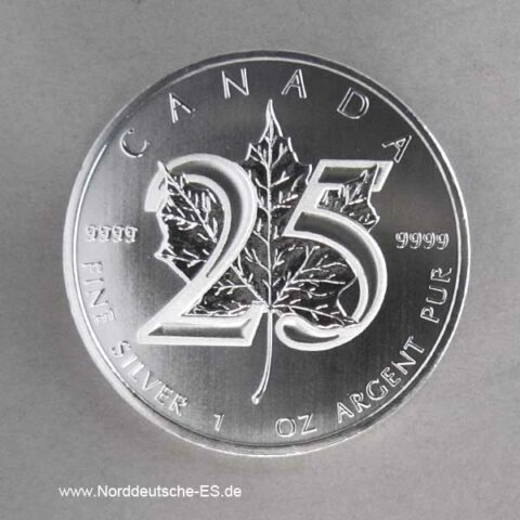 1 oz Maple Leaf Jubiläum 25 Jahre