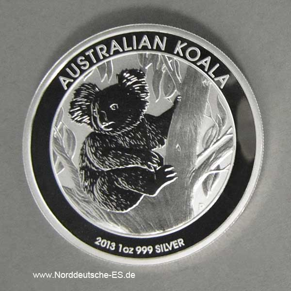 Australien 1 oz Koala Silbermünze 2013