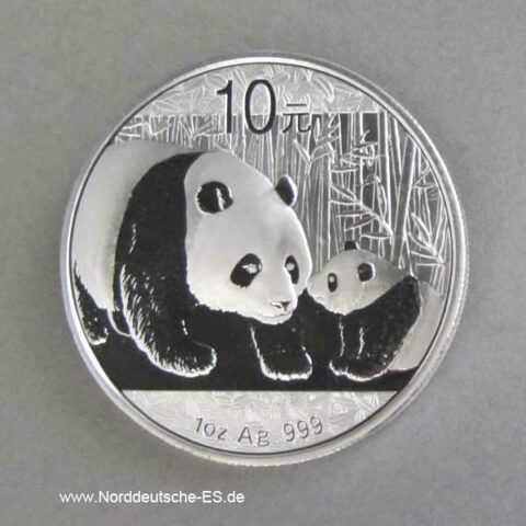 China Panda 1 oz Silber 10 Yuan 2011