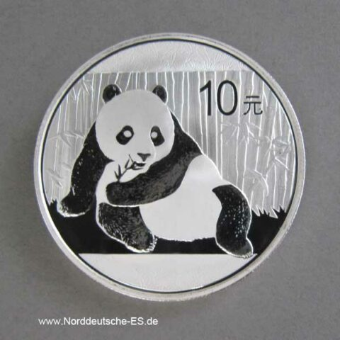 China Panda 1 oz Silber 10 Yuan 2015