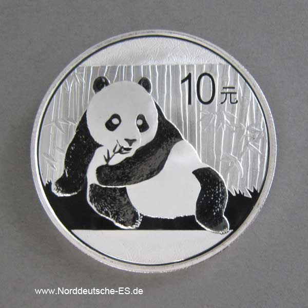 China Panda 1 oz Silber 10 Yuan 2015