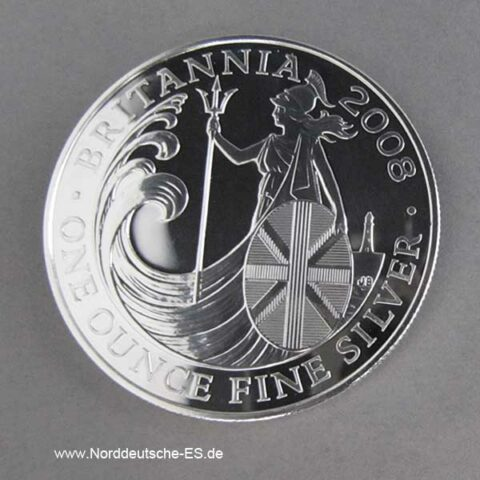 England Silbermünze 1 oz Britannia 2008
