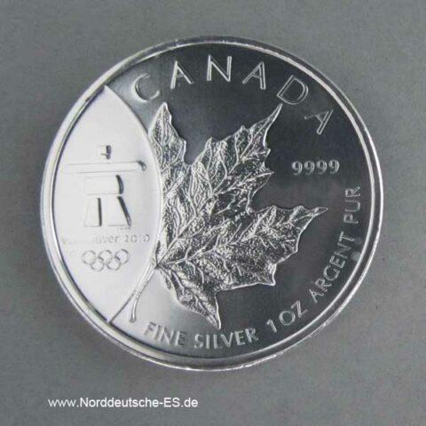 Kanada Maple Leaf Vancouver Olympiade 1 oz Silber 2008