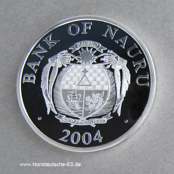 Nauru Skulpturmünze Frauenkirche 2004