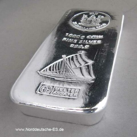 Silberbarren 1 kg Münzbarren 10 Dollars Fiji Argor Heraeus