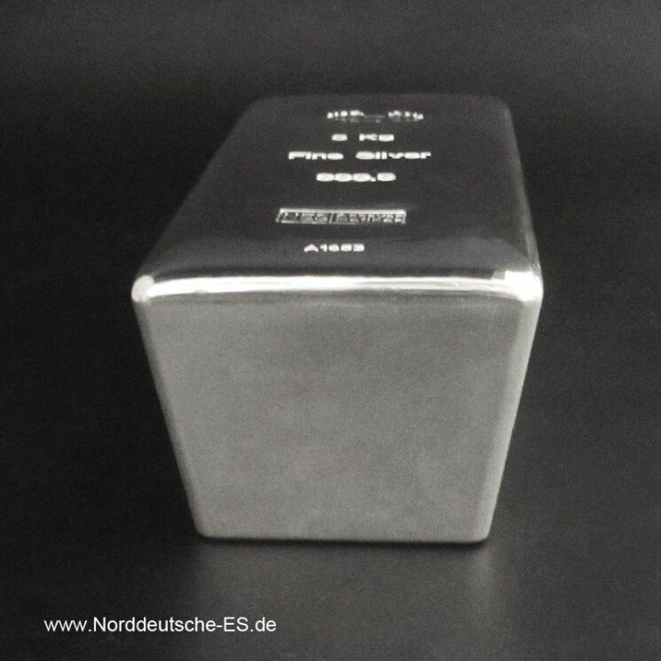 Silberbarren 5Kg Feinsilber 9999 Norddeutsche Bild3