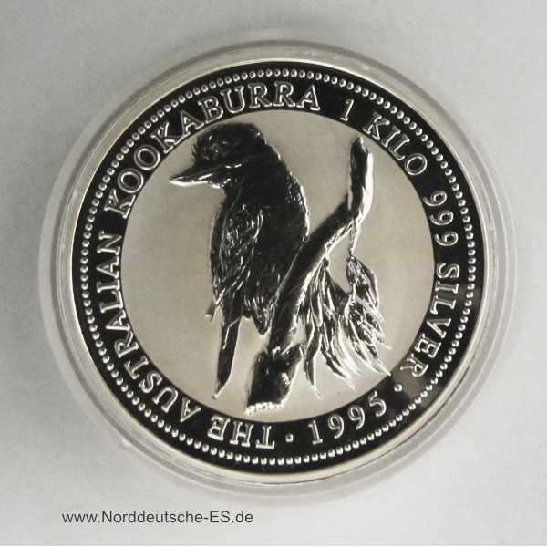 Australien 1 Kilo Feinsilber Kookaburra 1995