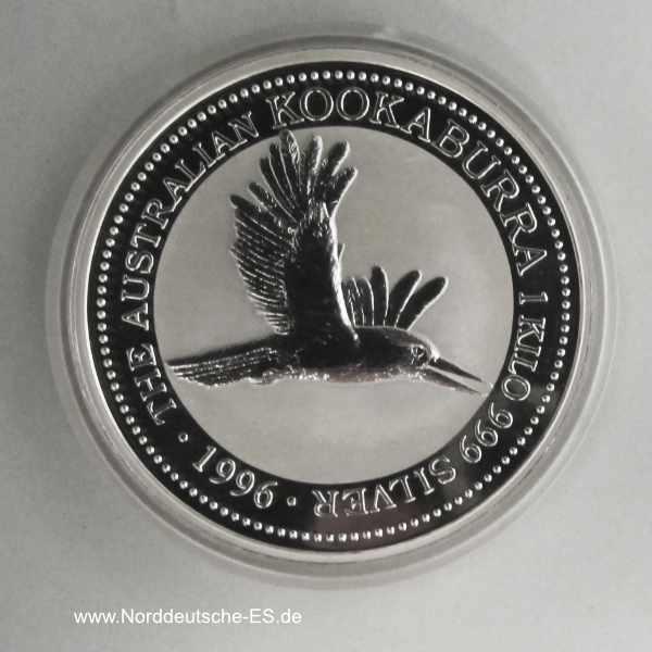 Australien 1 Kilo Feinsilber Kookaburra 1996