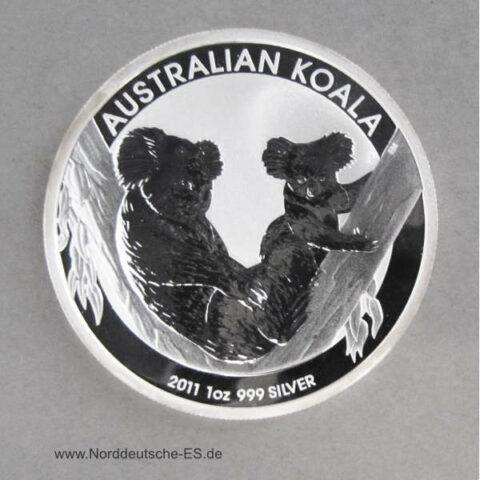 Australien 1 oz Koala Silbermünze 2011