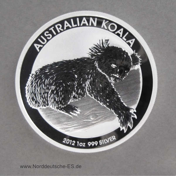 Australien 1 oz Koala Silbermünze 2012