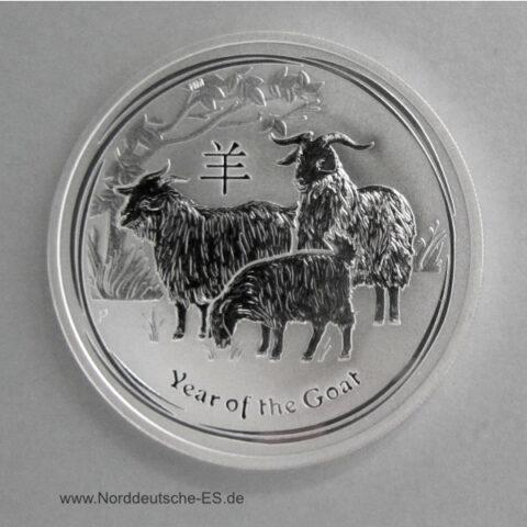 Australien Year of the Goat 1 oz Feinsilber Ziege 2015