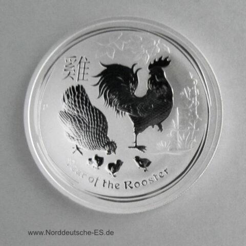 Australien Year of the Rooster 1 oz Feinsilber Hahn 2017