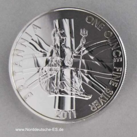 England Britannia 1 oz Silbermünze 2011