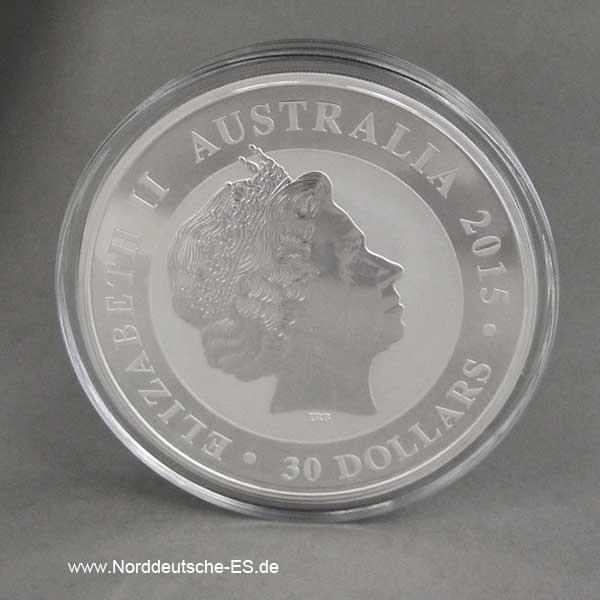 1 Kilo Silbermünze Kookaburra 30 Dollars