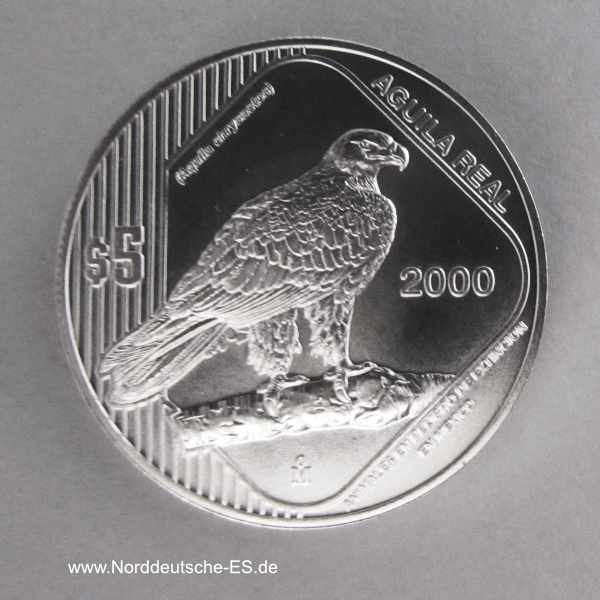 Mexiko 1 oz Silber Steinadler Aguila Real 2000