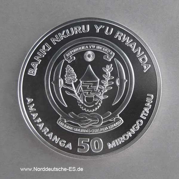 Ruanda 1 oz Silber 50 RWF African Ounce