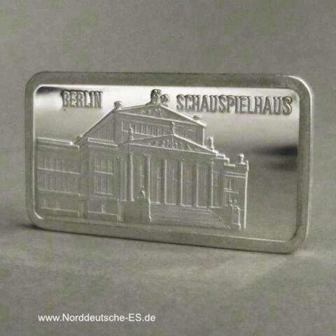 Silberbarren 1 oz Berlin Schauspielhaus Feinsilber Motivbarren