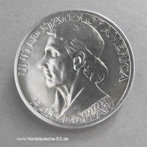 1937 Daniel Boone Half Dollar Silber
