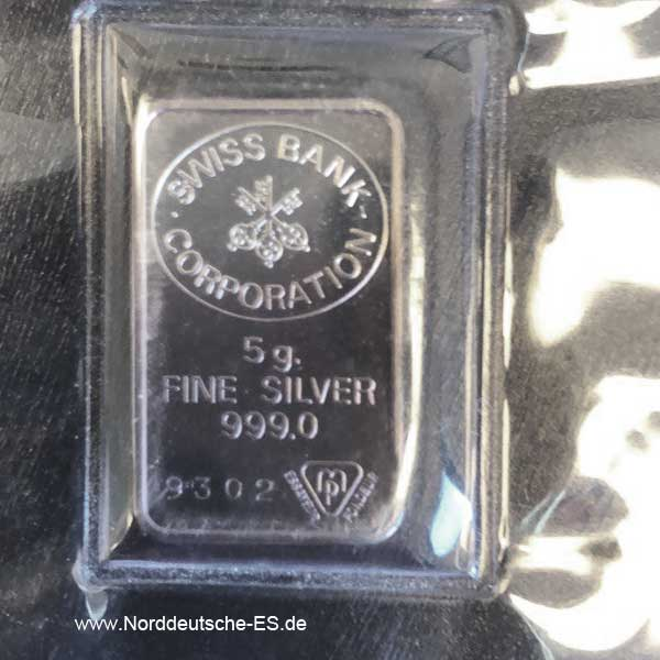 5 Gramm Silberbarren 5g Silberbarren 5 g Silberbarren