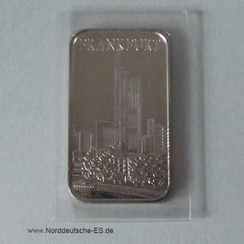 1 Unze Silberbarren Motivbarren Frankfurt Commerzbank-Tower
