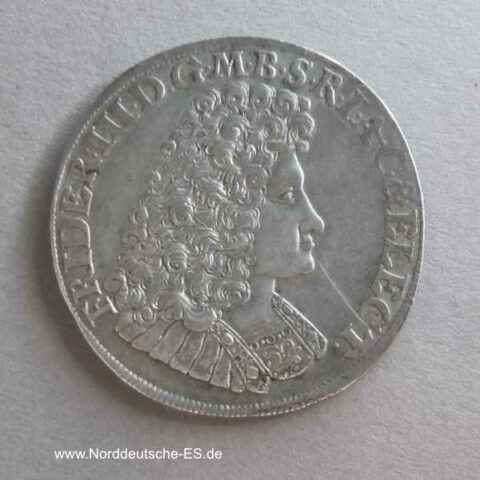 2/3 Taler Friedrich III Kurfürst Brandenburg Preussen Silber 1690