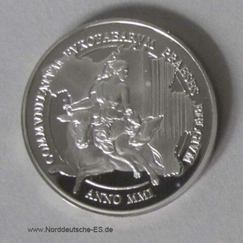 Belgien Silbermünze EU-Präsidentschaft 2001