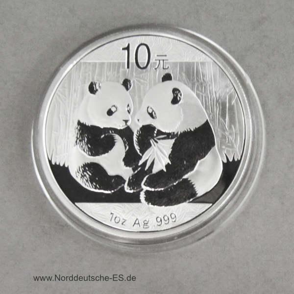 China Panda 1 oz Silber 10 Yuan 2009