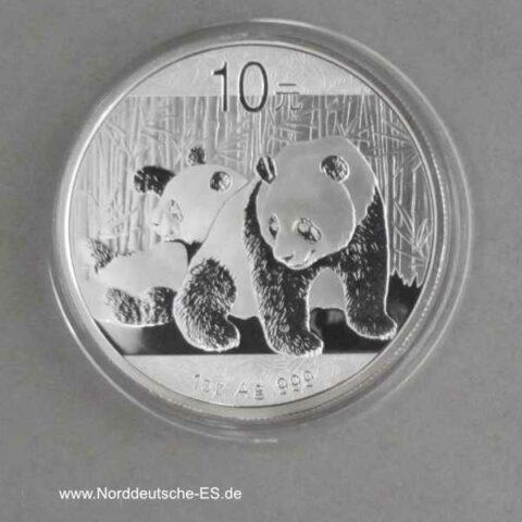 China Panda 1 oz Silber 10 Yuan 2010