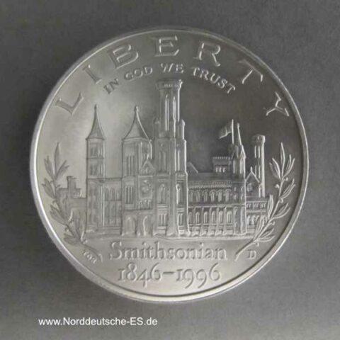 1 Dollar 150 Jahre Smithsonian Institut 1996