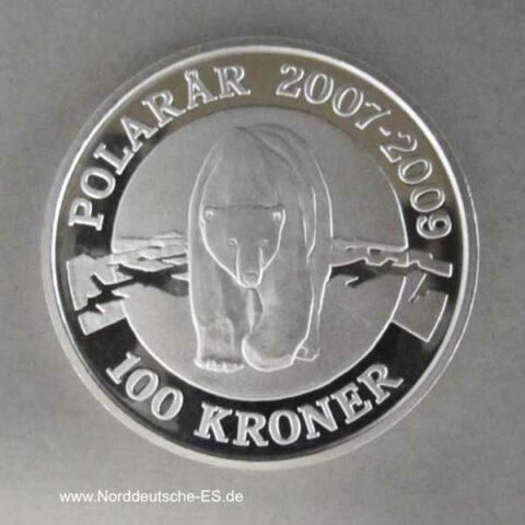 Dänemark 100 Kronen Polarbär 2007