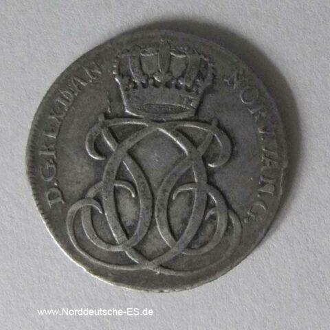 Dänemark 24 Skilling 1734 CW Christian VI. Silbermünze 1730-1746