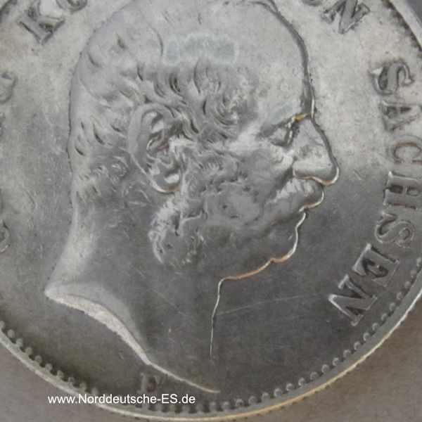 Deutsches Reich 2 Mark Georg Koenig von Sachsen 1903 E