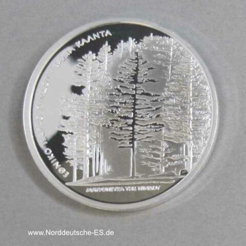 Griechenland 10 Euro Silbermünze Nationalpark Pindos Kiefernwald 2007