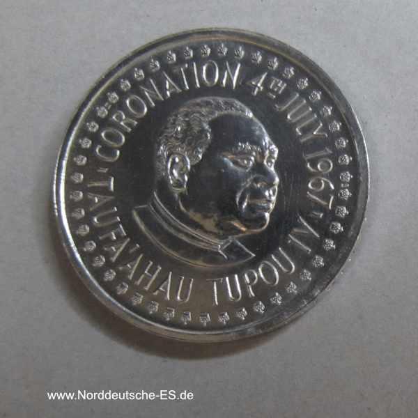 Tonga Palladium Münze 1/4 Hau 1967