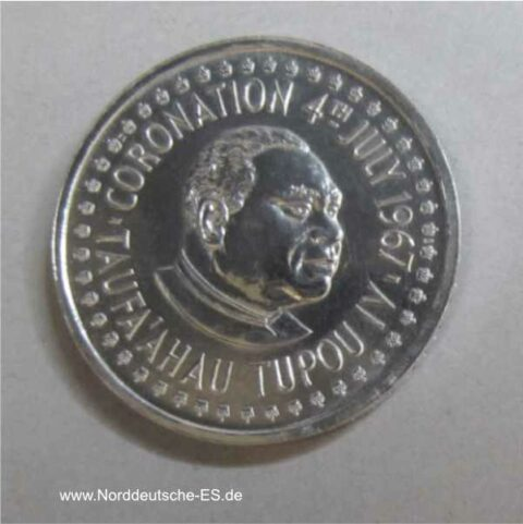 Tonga 1/2 Hau Palladium Münze 1967