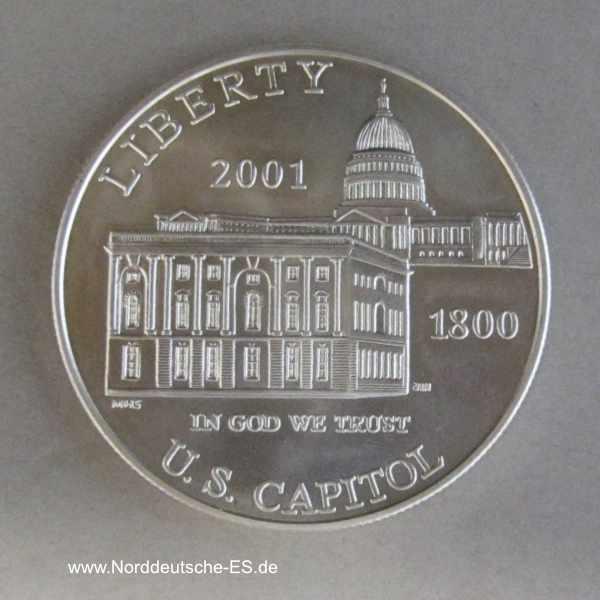 USA 1 Dollar Silbermünze US Capitol 2001