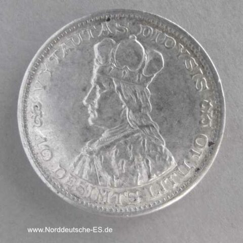 Litauen 10 Litu Silbermünze Großfürst Vytautas 1936