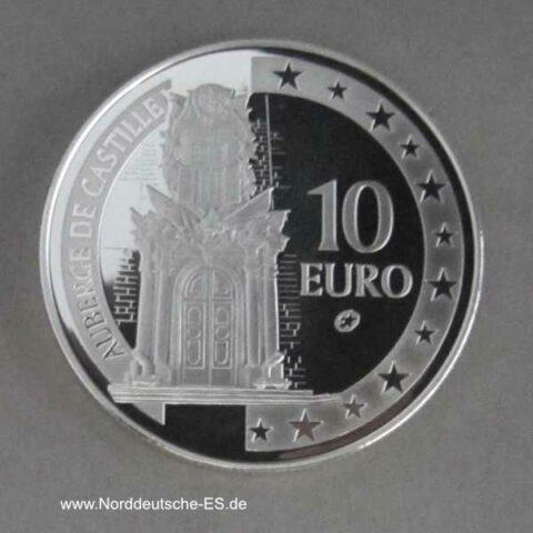 Malta 10 Euro Silbermünze Auberge de Castille 2008 PP