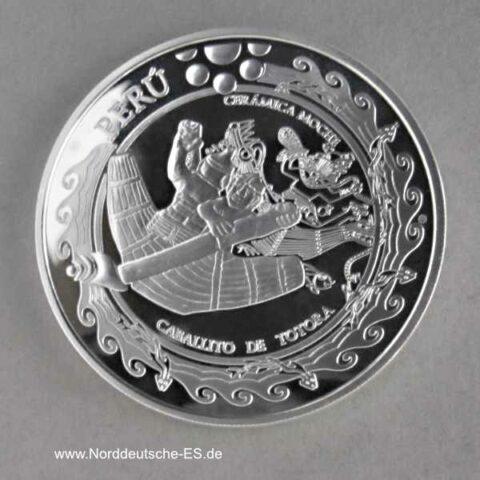 Peru 1 Nuevo Sol Silbermünze Caballito De Totora 2002