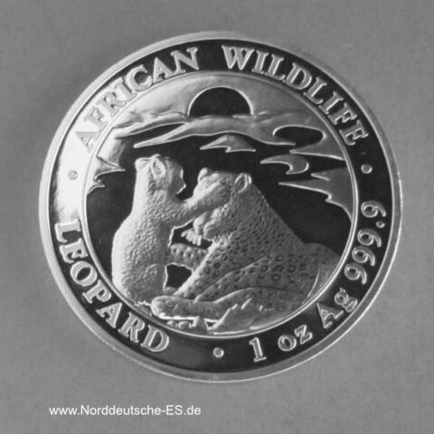 Somalia Silbermünze African Wildlife 1 oz Leopard 2019