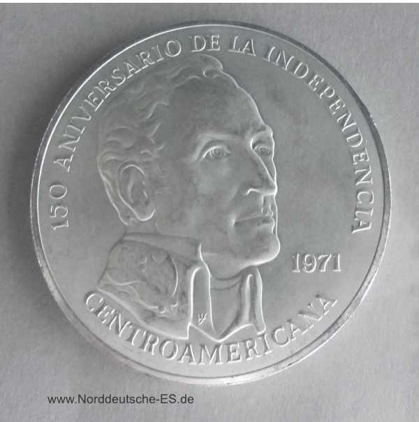 Panama 20 Balboas Silbermünze Simon Bolivar 150 Jahrestag der Unabhängigkeit Zentralamerikas 1971