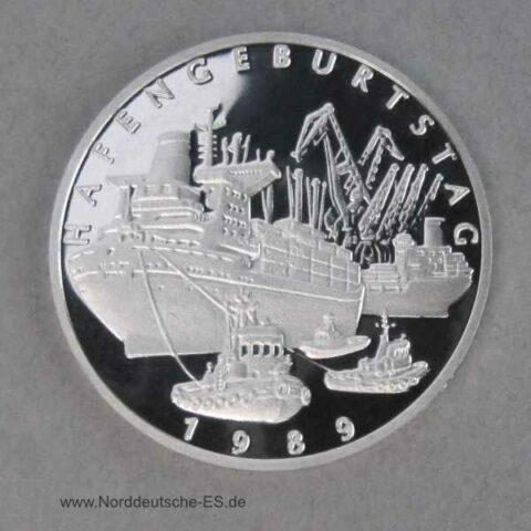 Hansestadt Hamburg Platin Gedenkprägung 1989 Hafengeburtstag