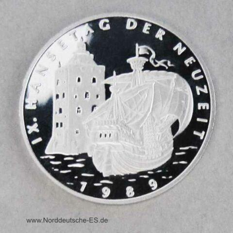 Hansestadt Hamburg Platin Gedenkprägung 1989 Hansetage der Neuzeit