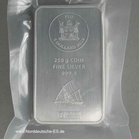 Silberbarren 250g Fiji Münzbarren 2 Dollars Argor Heraeus