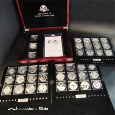 Fabulous 15 Serie 2010 Fabulous 12 Serie 2009 und 2008 insgesamt 39 Silbermünzen
