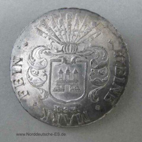 Hamburg Freie und Hansestadt 32 Schilling 1809 HSK Eine Feine Mark