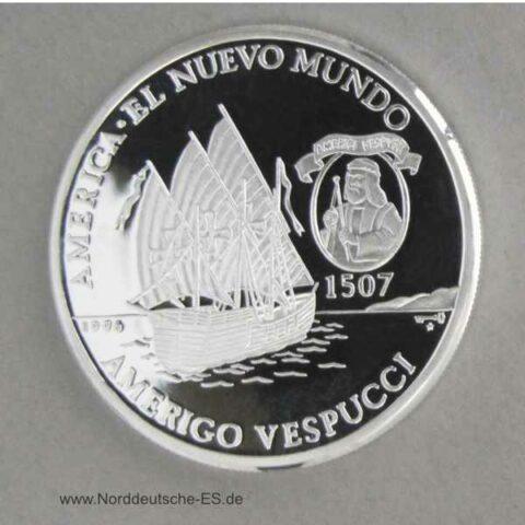 Kuba 10 Pesos 1996 Vespucci