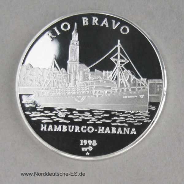 Kuba 10 Pesos 1998 Dampfschiff Rio Bravo
